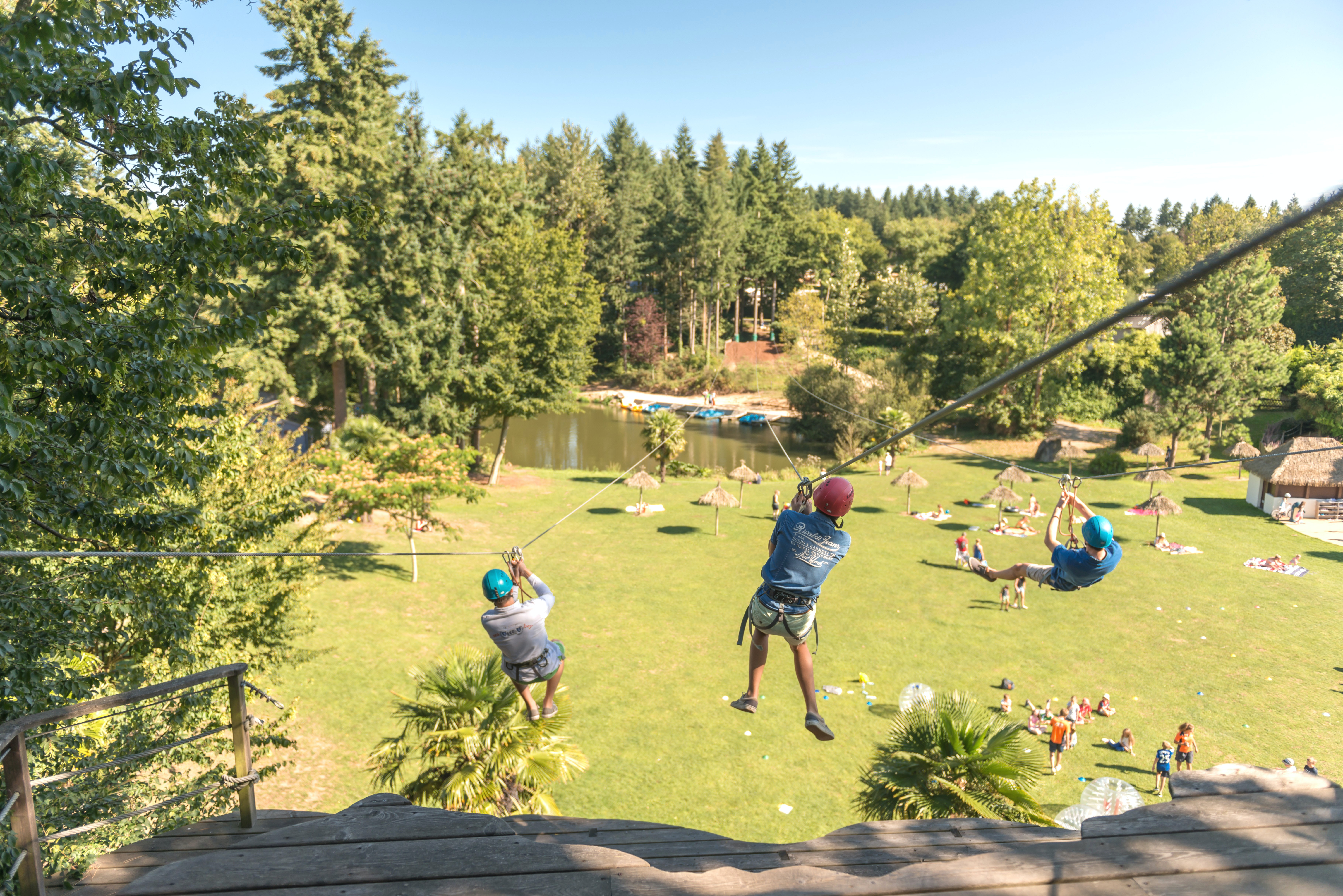 Camping Domaine des Ormes tokkelbaan