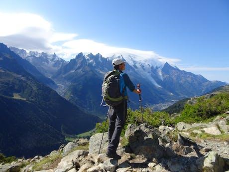 Wandelaar wandelvakantie Mont Blanc West