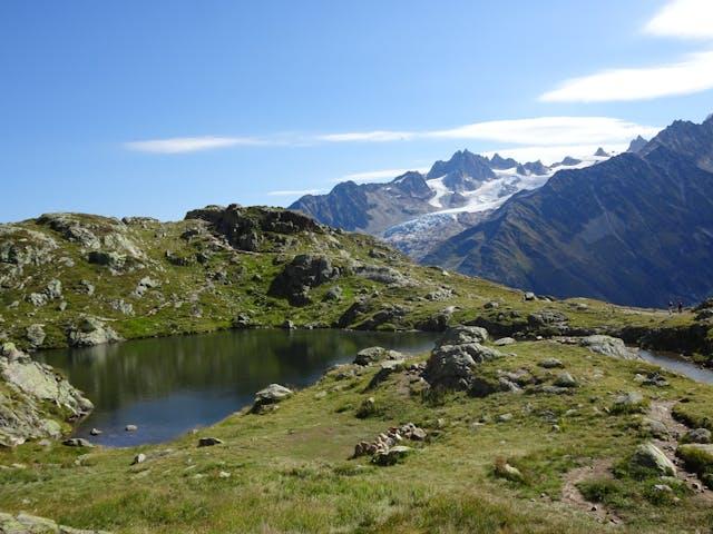 Wandelvakantie Mont Blanc West uitzicht