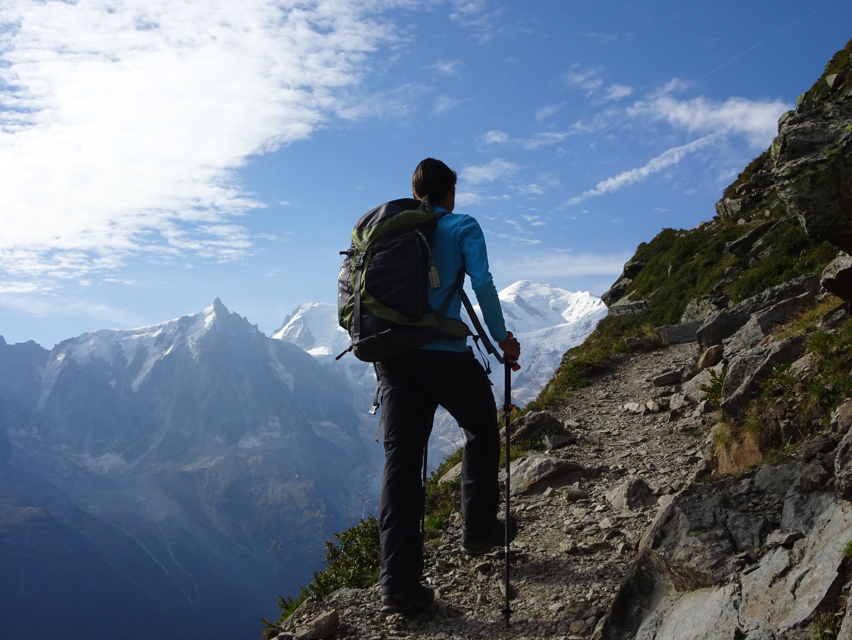Wandelvakantie Mont Blanc West wandelaar