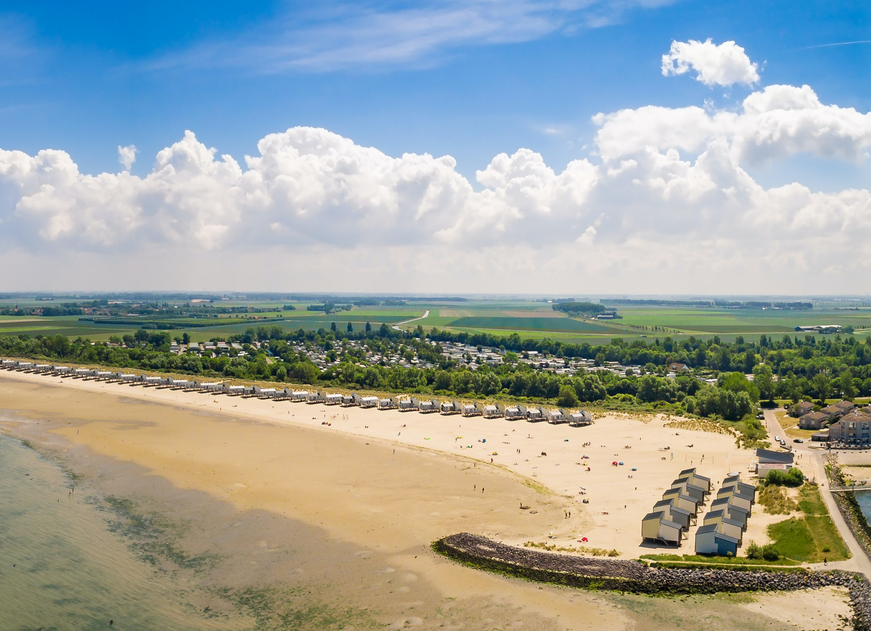 Camping Roompot Beach Resort  aan strand