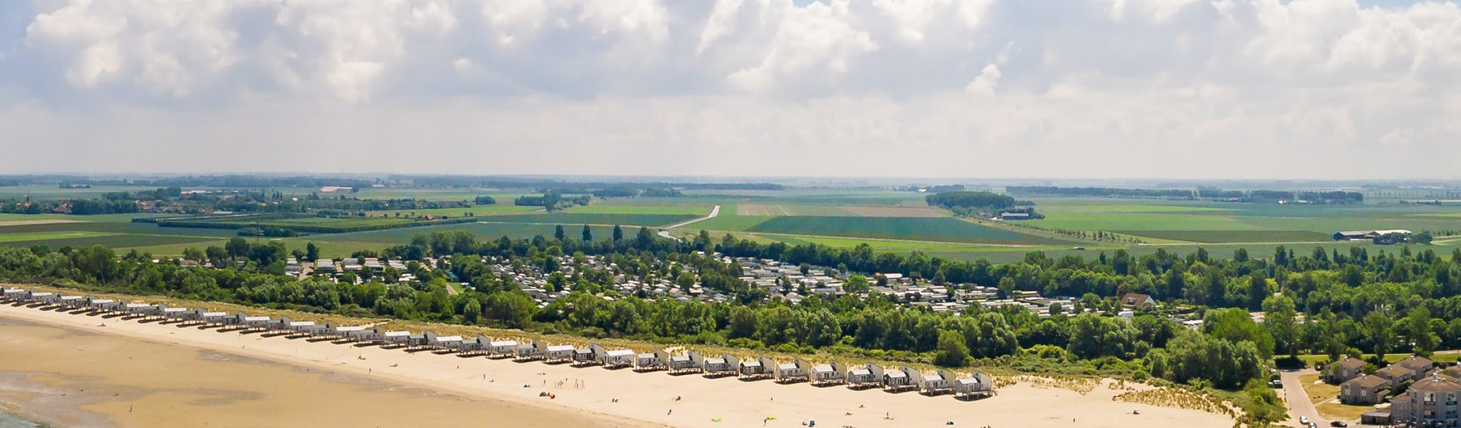 Camping Roompot Beach Resort  aan strand