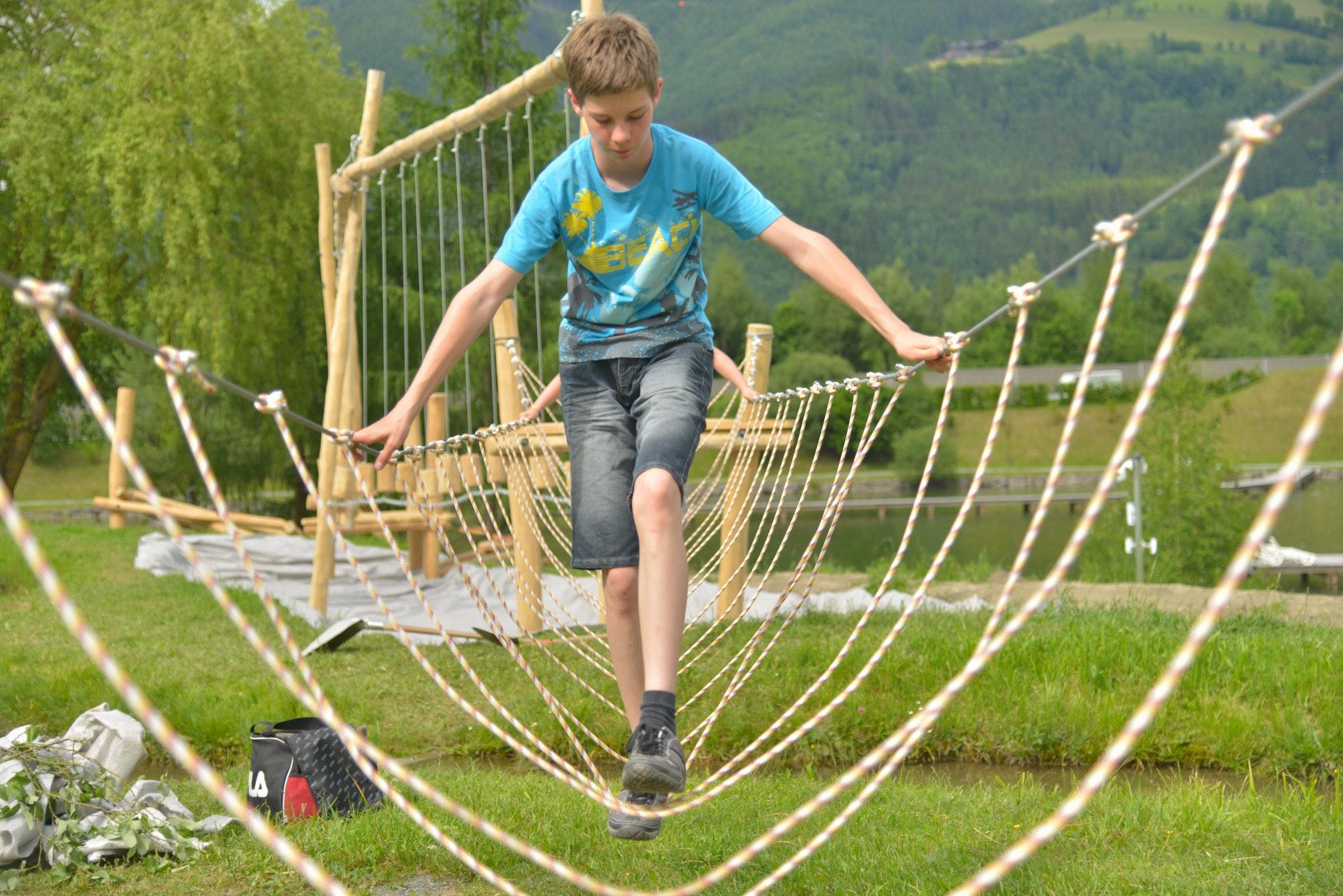 Camping Woferlgut touwbrug