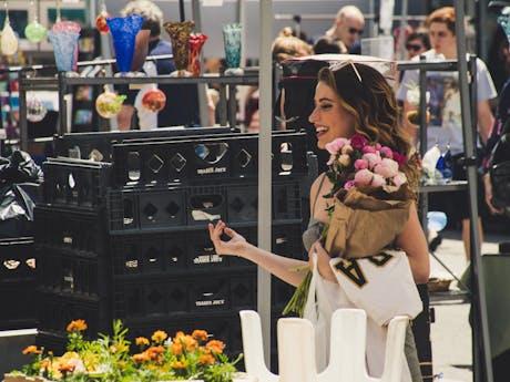 bloemen gekocht bij markt