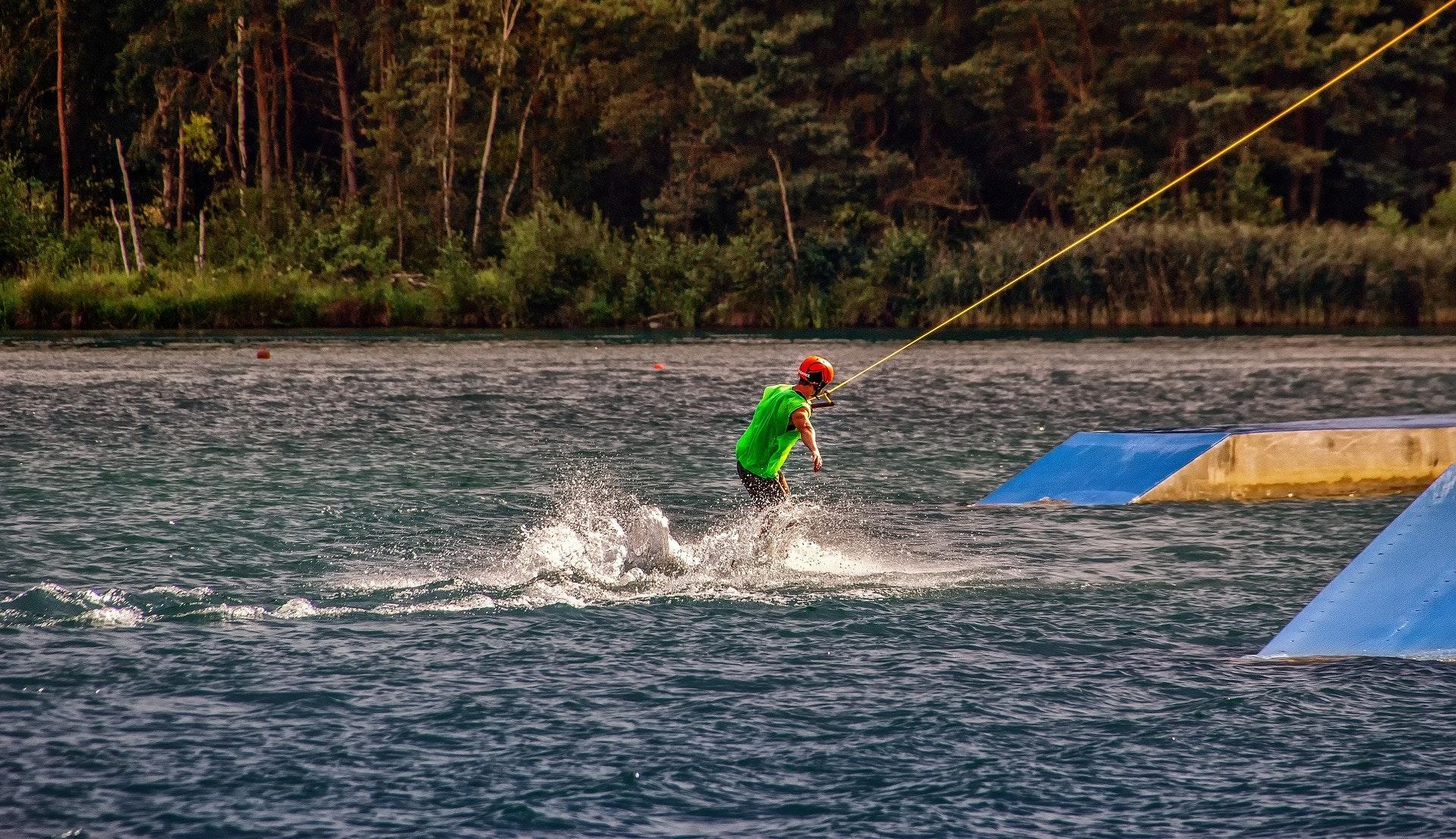 waterskiën in Istrië, Kroatië