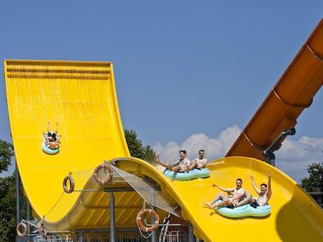 Camping Terme Catez gele glijbaan