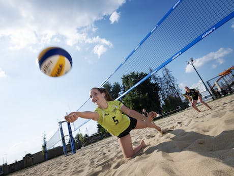 Camping Terme Catez volleybalveld
