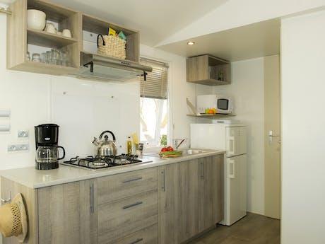 Keuken 3-kamerstacaravan Cosy Plus