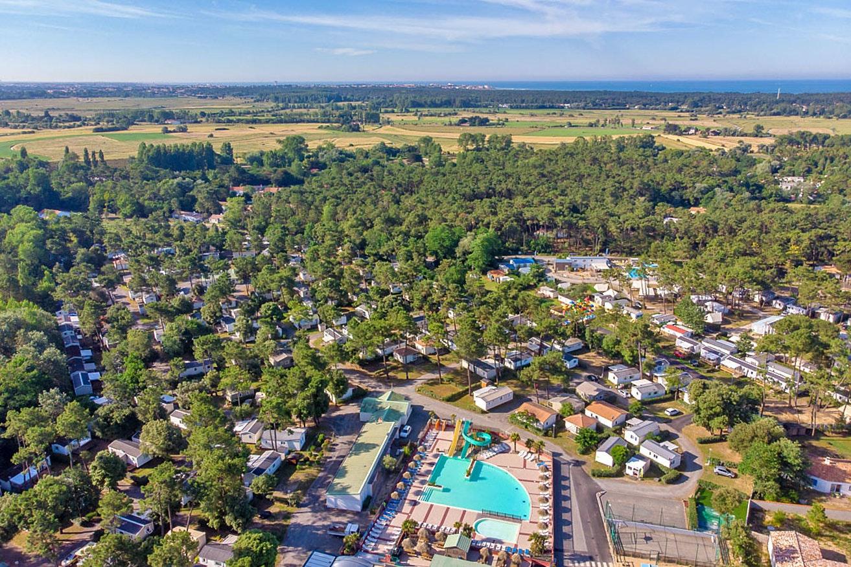 Drone foto camping California