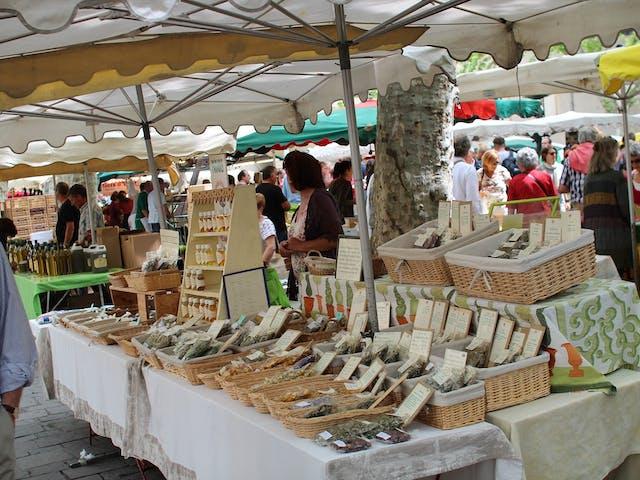 Markt in de Côte d'Azur