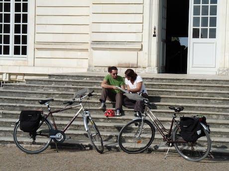 Loire à Vélo fietsers rusten