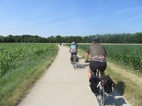 Loire à Vélo fietsers
