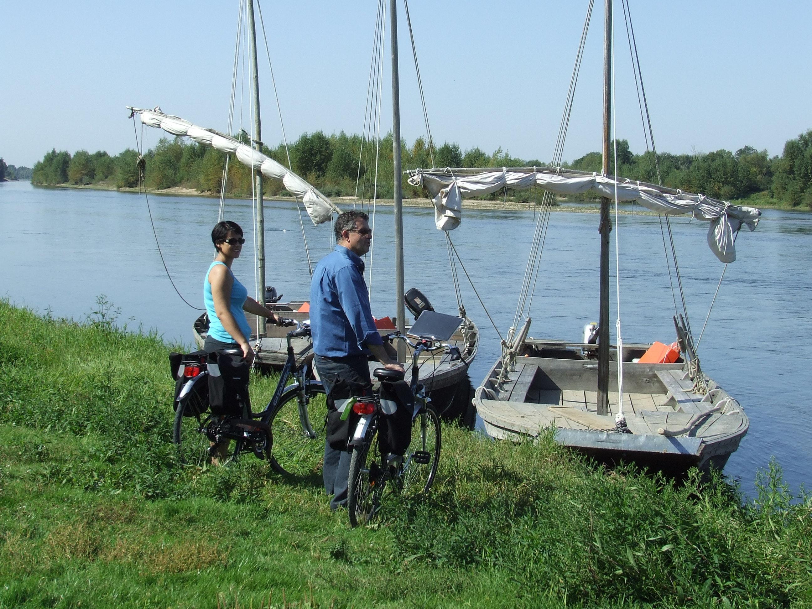 Loire à Vélo fietsers boot