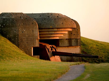 Normandië Geschutsbatterij Longues sur Mere