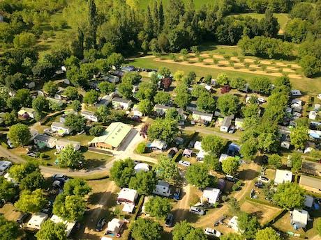 Drone foto camping Le Moulin de Paulhiac