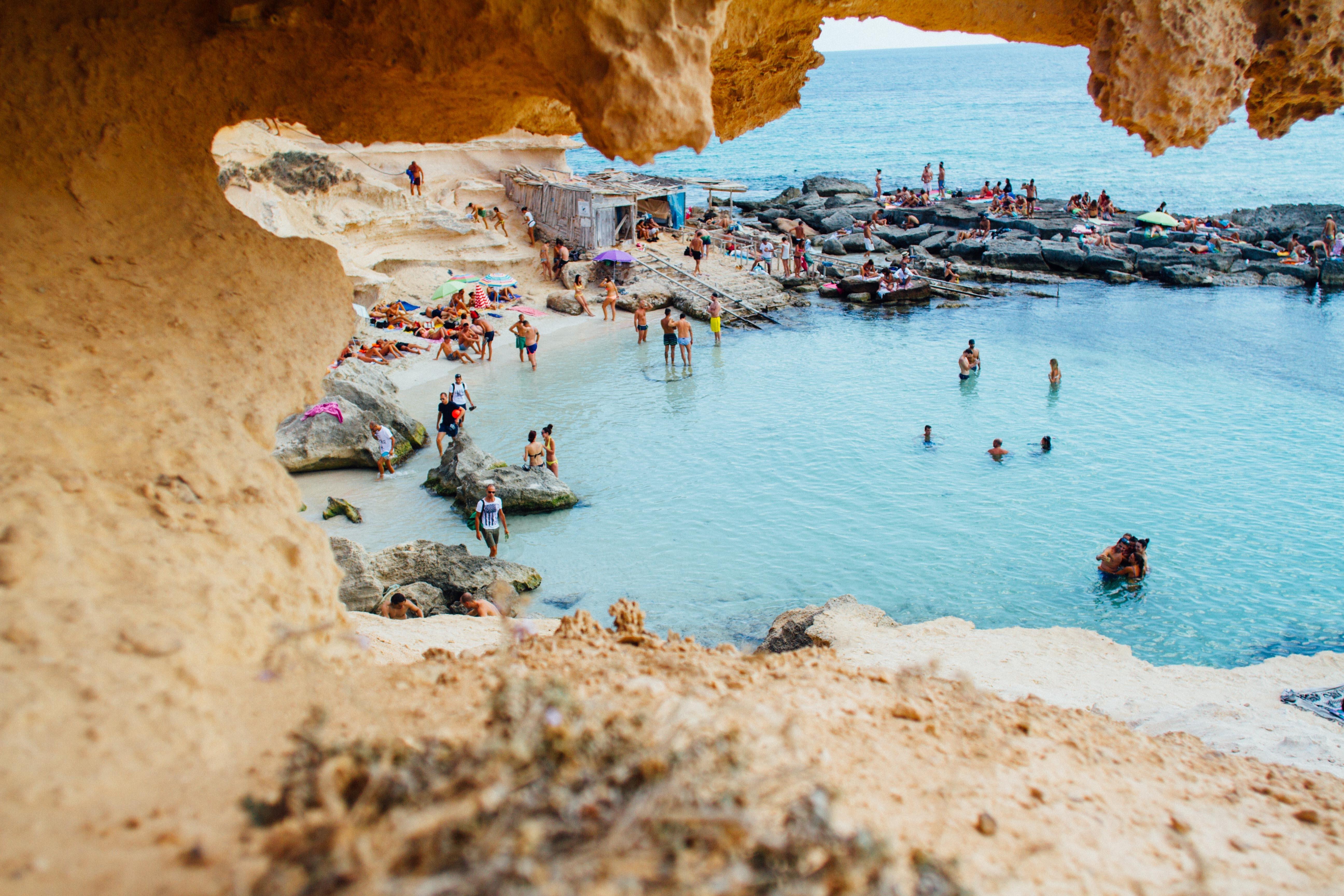 costa brava beach cave