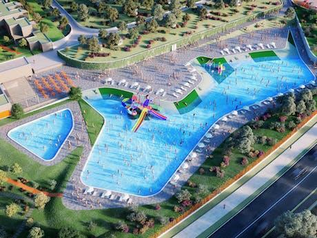 Nieuwe Zwembad camping Cisano San Vito