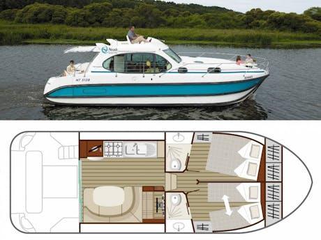 plattegrond en foto Estivale Quattro boot