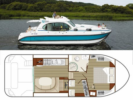 plattegrond en foto Estivale Quattro S boot
