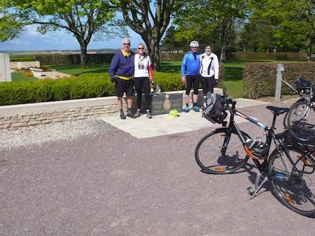 Juno met de fiets in Normandië
