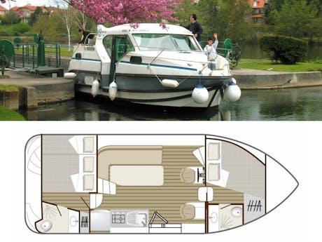 plattegrond en foto Confort 900 (DP) boot
