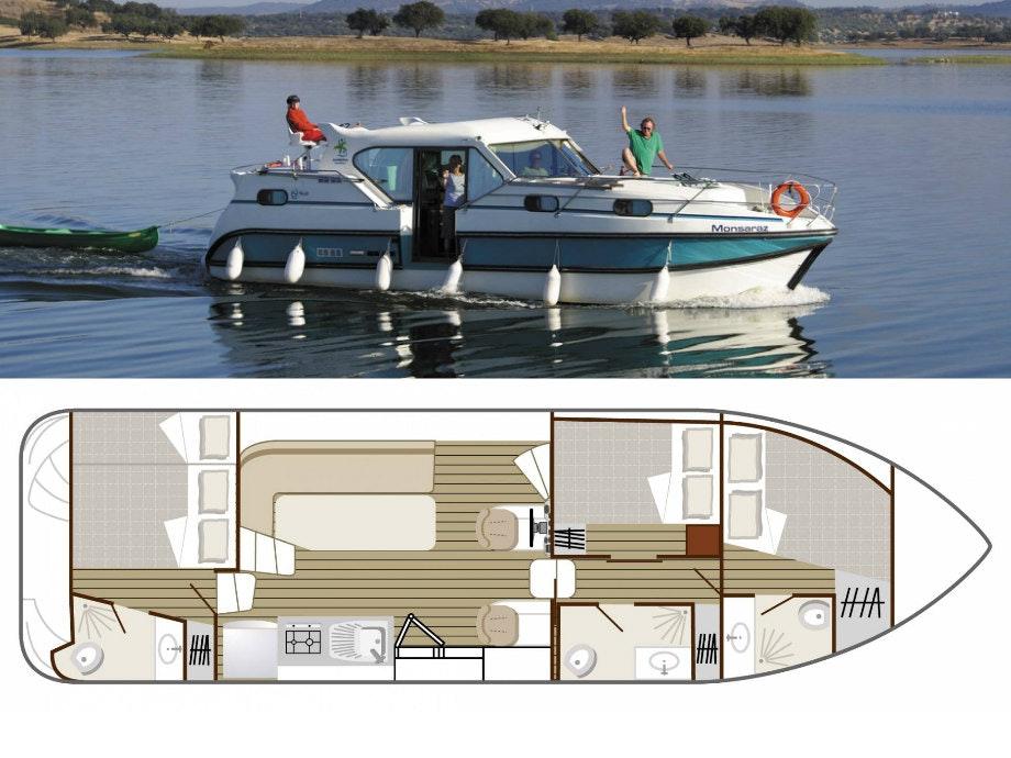 plattegrond en foto Confort 1100 boot