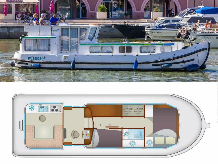 plattegrond en foto P1106fb Locaboat