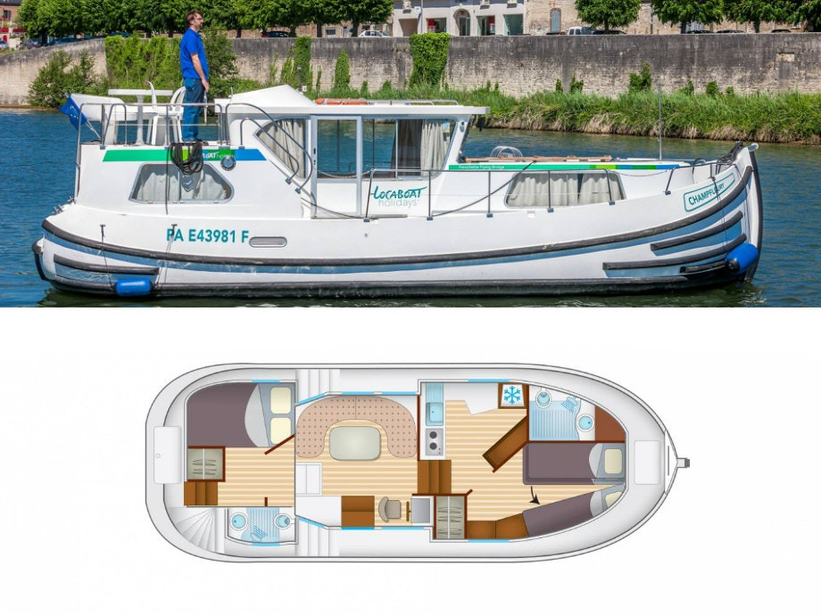 plattegrond en foto Locaboat P1020fb