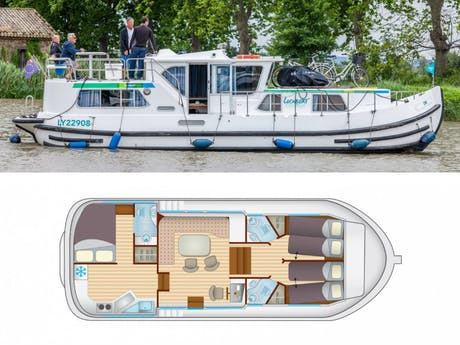 plattegrond en foto Locaboat P1180fb
