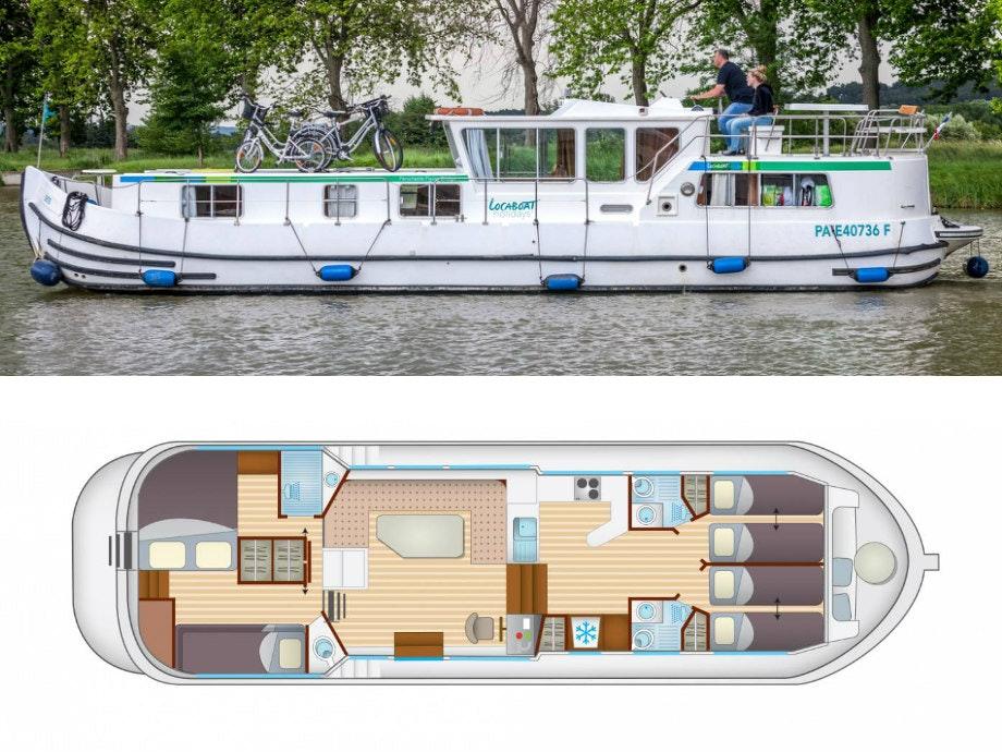 plattegrond en foto Locaboat P1400fb