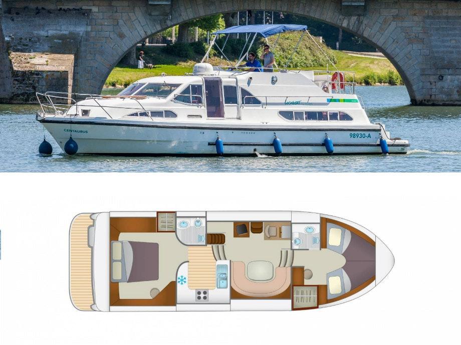 Plattegrond en foto Locaboat E400