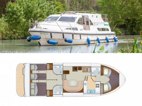 Plattegrond en foto Locaboat E600