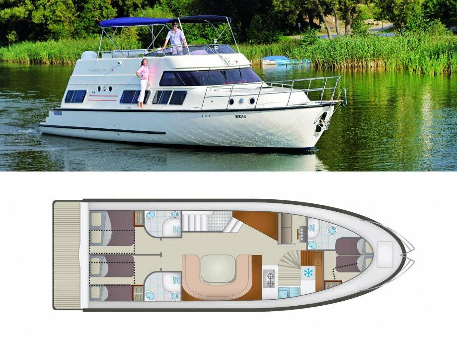 plattegrond en foto Locaboat E700
