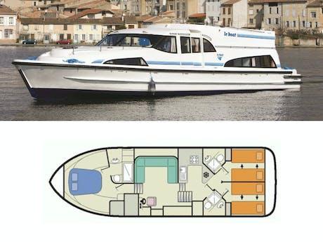 plattegrond en foto Mystique Le Boat