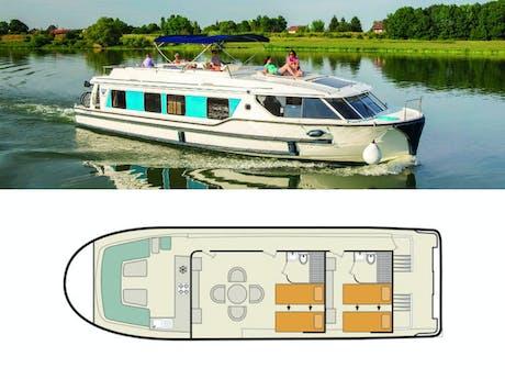 Plattegrond en foto Vision 2 le boat