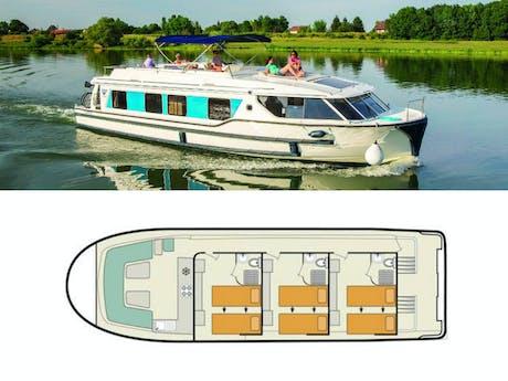 Plattegrond en foto Vision 3 le boat