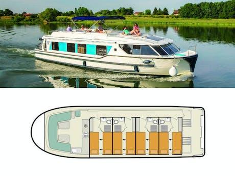 Plattegrond en foto Vision 4 le boat