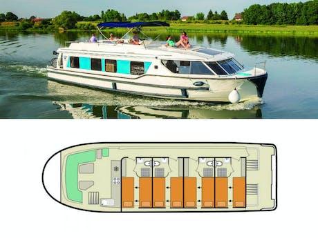 plattegrond en foto Vision 4SL le boat