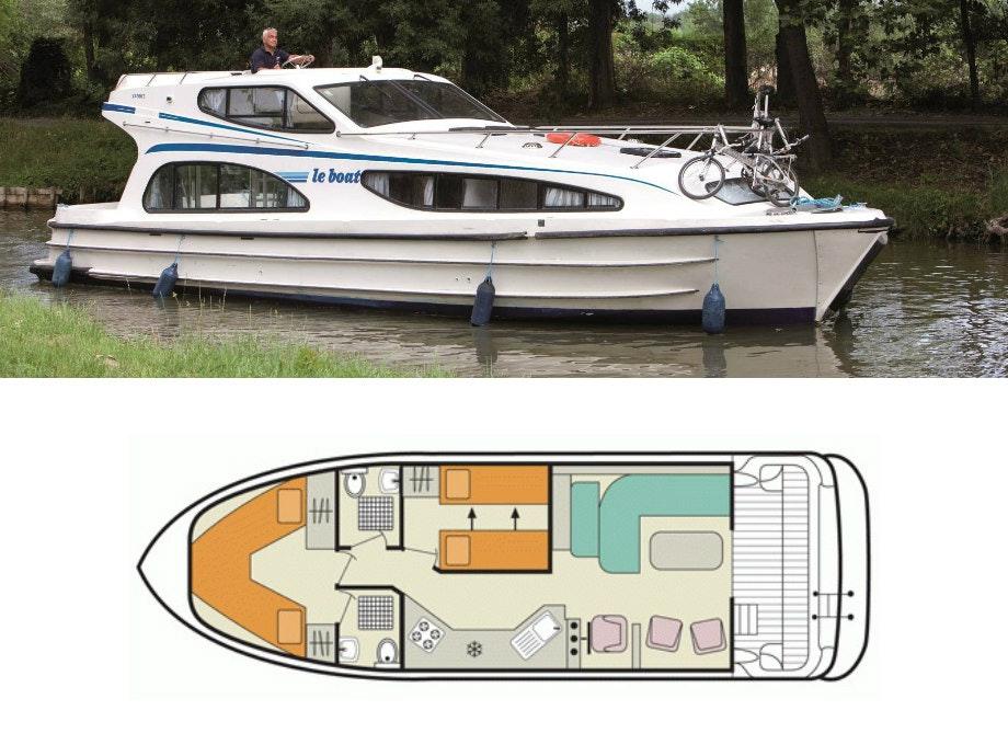 plattegrond en foto Caprice Le Boat