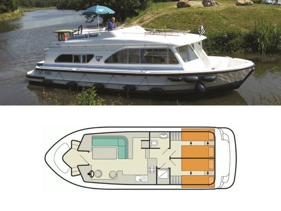 plattegrond en foto Tango Le Boat