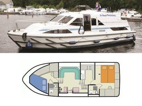 plattegrond en foto Clipper Le Boat