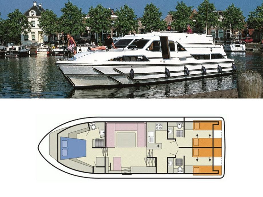 plattegrond en foto Royal Classique Le Boat