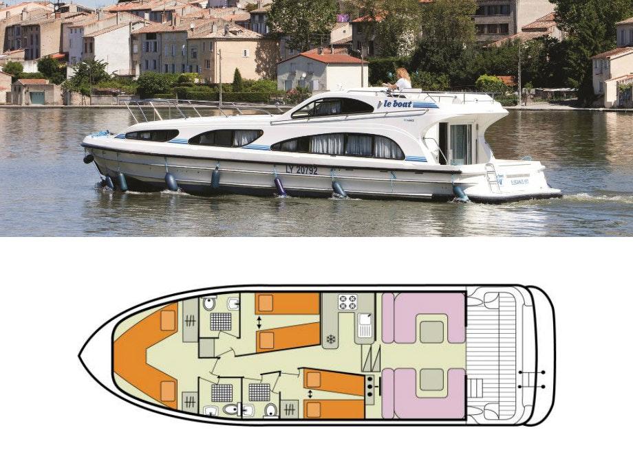 plattegrond en foto Elegance Le Boat