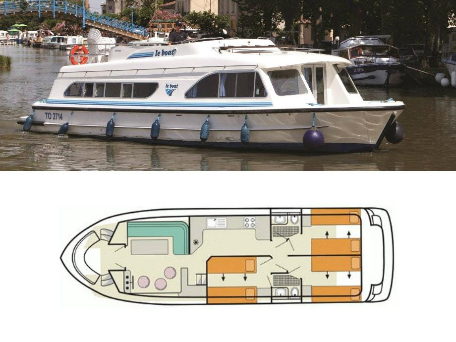 plattegrond en foto Calypso Le Boat