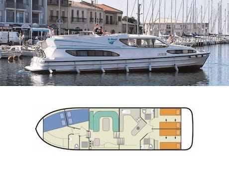 plattegrond en foto Magnifique Le Boat