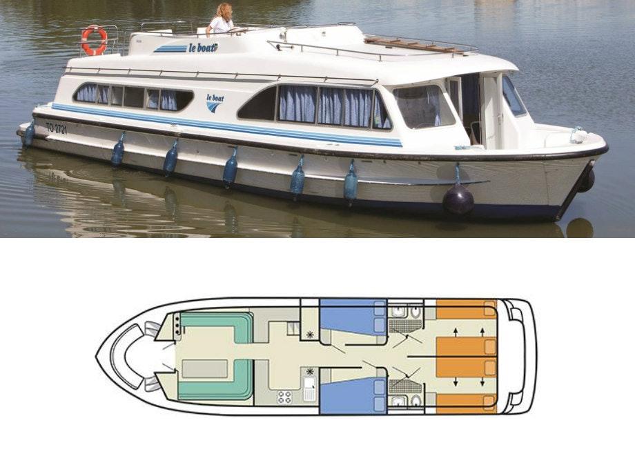 plattegrond en foto Salsa B Le Boat