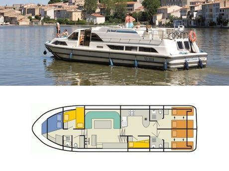 plattegrond en foto Grand Classique Le Boat