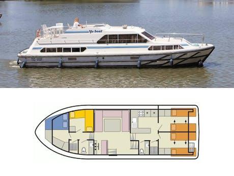 Plattegrond en foto Classique Le Boat