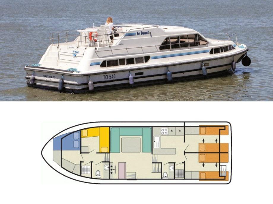 plattegrond en foto Nautilia Le Boat