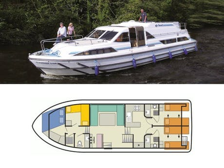 plattegrond en foto Classique Star Le Boat